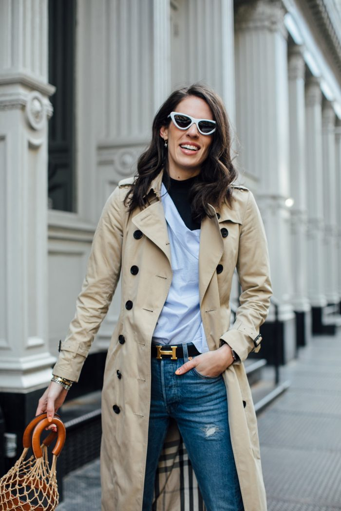 Fashion Uniform: Trench + Jeans + Heels